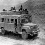 """На Броне 4ММГ Тути Рейсовый автобус """"Рустак-Шерхан"""", Дорога в Кунсайской впадине."""