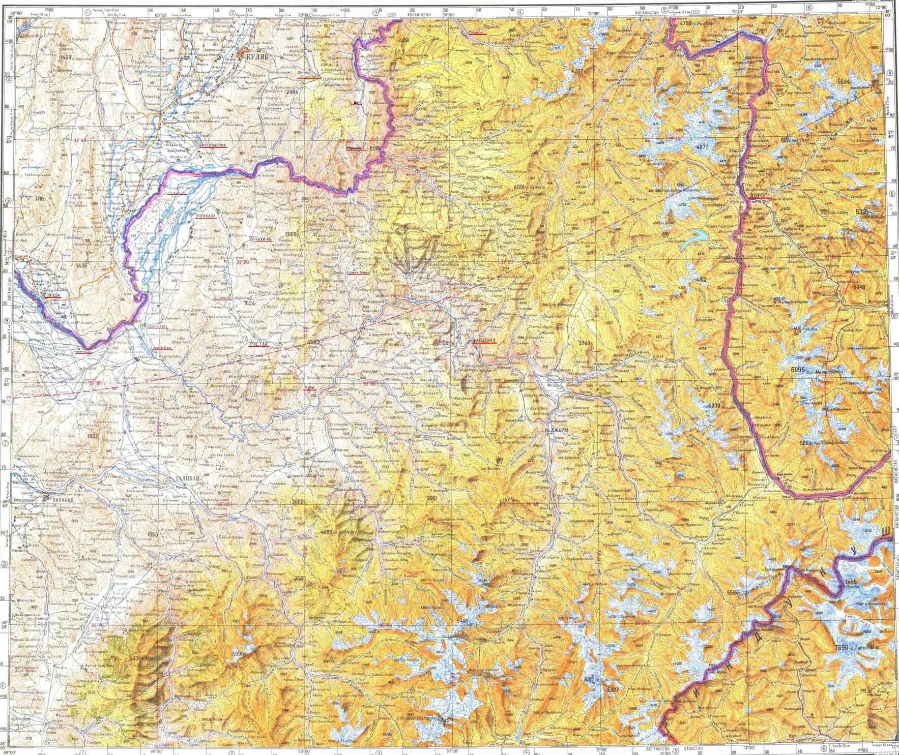 4 ММГ на карте