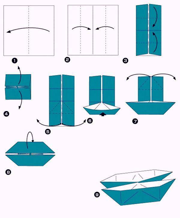 Лодка из бумаги своими руками схемы