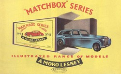 Matchbox Catalogue 1958 - Englische Ausgabe Nachdruck