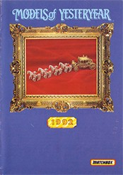 Matchbox Catalogue 1992 - Englische Ausgabe - Lesney Products