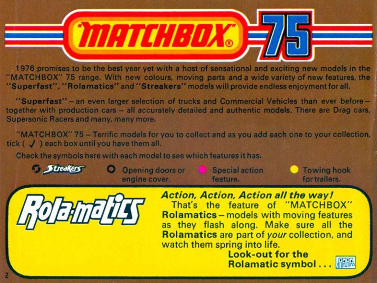 Matchbox Lesney - Каталоги - Matchbox Catalogue 1976