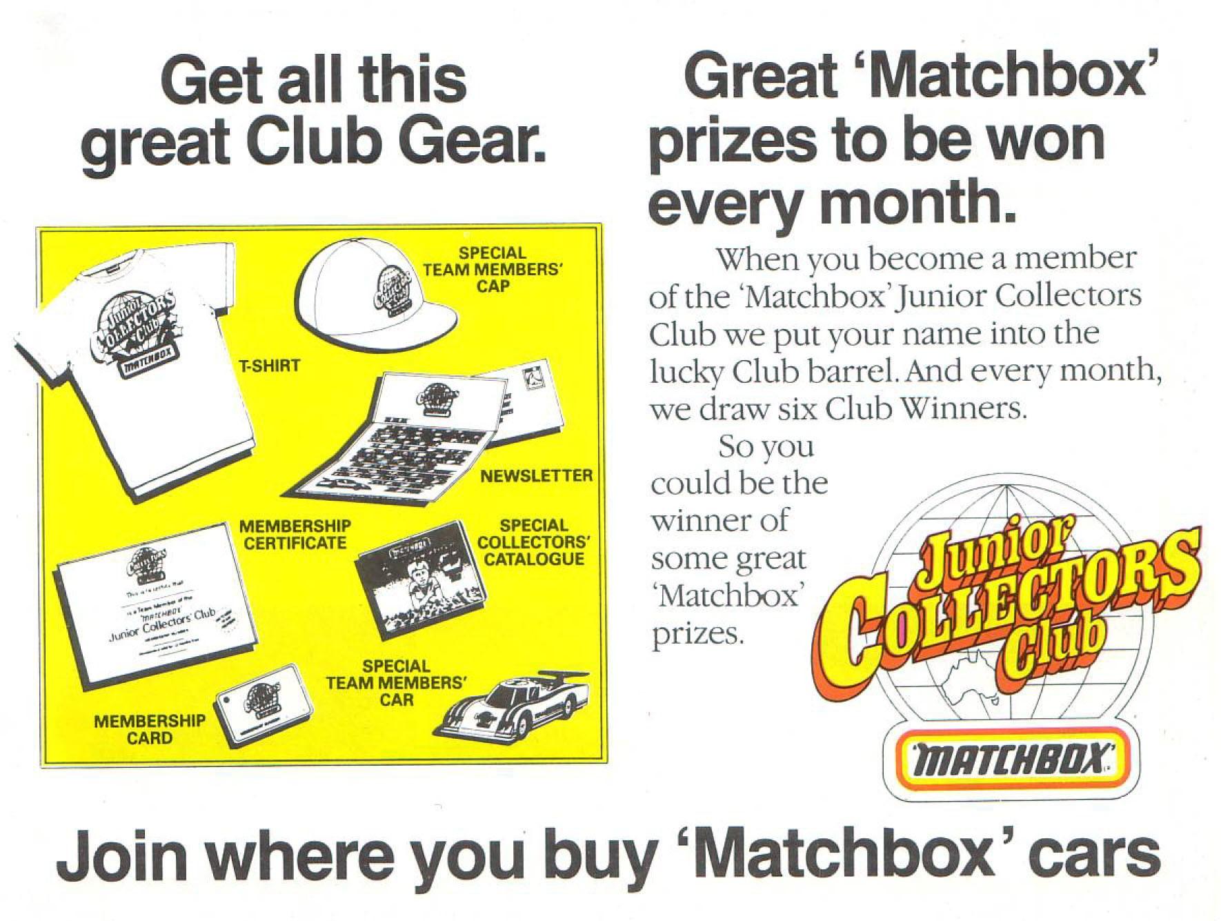 Matchbox — Каталог 1986/1987 год — MG-studio