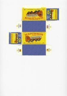 Pattern for printing boxes - Matchbox MB 10 Шаблон для печати коробочек