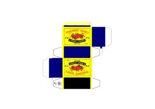 Pattern for printing boxes - Matchbox MB 12 Шаблон для печати коробочек