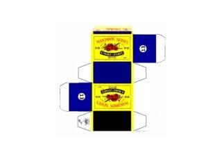 Pattern for printing boxes - Matchbox MB 13 Шаблон для печати коробочек