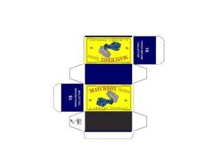 Pattern for printing boxes - Matchbox MB 15 Шаблон для печати коробочек