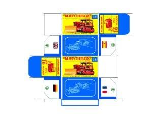 Pattern for printing boxes - Matchbox MB 16 Шаблон для печати коробочек