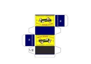 Pattern for printing boxes - Matchbox MB 19 Шаблон для печати коробочек