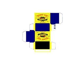 Pattern for printing boxes - Matchbox MB 1 Шаблон для печати коробочек