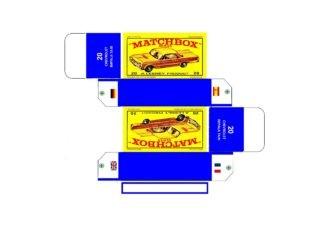 Pattern for printing boxes - Matchbox MB 20 Шаблон для печати коробочек