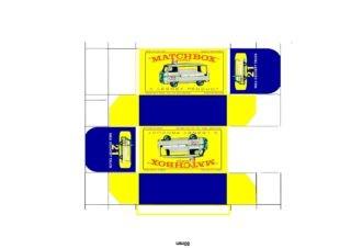 Pattern for printing boxes - Matchbox MB 21 Шаблон для печати коробочек
