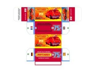 Pattern for printing boxes - Matchbox MB 22 Шаблон для печати коробочек