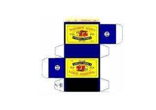 Pattern for printing boxes - Matchbox MB 23 Шаблон для печати коробочек