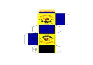 Pattern for printing boxes - Matchbox MB 24 Шаблон для печати коробочек