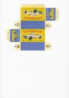 Pattern for printing boxes - Matchbox MB 27 Шаблон для печати коробочек