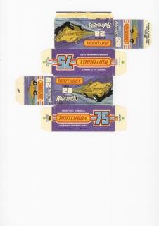 Pattern for printing boxes - Matchbox MB 28 Шаблон для печати коробочек