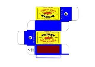 Pattern for printing boxes - Matchbox MB 29 Шаблон для печати коробочек