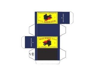 Pattern for printing boxes - Matchbox MB 2 Шаблон для печати коробочек