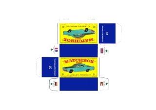 Pattern for printing boxes - Matchbox MB 31 Шаблон для печати коробочек