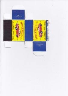 Pattern for printing boxes - Matchbox MB 32 Шаблон для печати коробочек