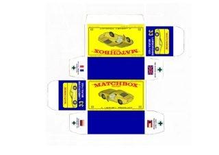 Pattern for printing boxes - Matchbox MB 33 Шаблон для печати коробочек