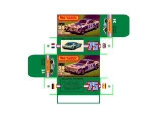Pattern for printing boxes - Matchbox MB 34 Шаблон для печати коробочек