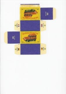 Pattern for printing boxes - Matchbox MB 35 Шаблон для печати коробочек