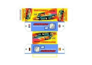 Pattern for printing boxes - Matchbox MB 37 Шаблон для печати коробочек