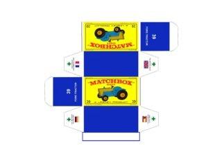 Pattern for printing boxes - Matchbox MB 39 Шаблон для печати коробочек