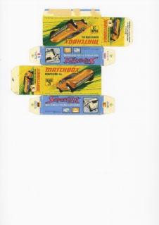 Pattern for printing boxes - Matchbox MB 3 Шаблон для печати коробочек