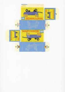 Pattern for printing boxes - Matchbox MB 40 Шаблон для печати коробочек
