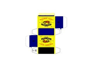 Pattern for printing boxes - Matchbox MB 4 Шаблон для печати коробочек