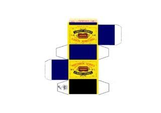 Pattern for printing boxes - Matchbox MB 5 Шаблон для печати коробочек