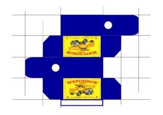 Pattern for printing boxes - Matchbox MB 6 Шаблон для печати коробочек