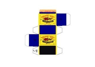 Pattern for printing boxes - Matchbox MB 7 Шаблон для печати коробочек