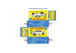 Pattern for printing boxes - Matchbox MB 8 Шаблон для печати коробочек