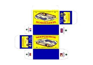 Pattern for printing boxes - Matchbox MB 41 Шаблон для печати коробочек