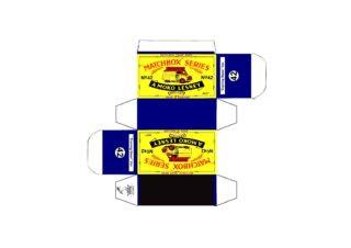 Pattern for printing boxes - Matchbox MB 42 Шаблон для печати коробочек
