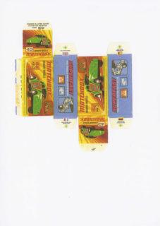 Pattern for printing boxes - Matchbox MB 43 Шаблон для печати коробочек