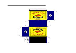 Pattern for printing boxes - Matchbox MB 44 Шаблон для печати коробочек