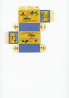 Pattern for printing boxes - Matchbox MB 45 Шаблон для печати коробочек