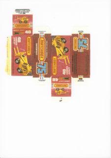 Pattern for printing boxes - Matchbox MB 48 Шаблон для печати коробочек