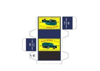 Pattern for printing boxes - Matchbox MB 49 Шаблон для печати коробочек
