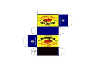 Pattern for printing boxes - Matchbox MB 50 Шаблон для печати коробочек