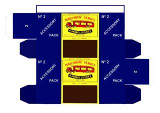 "Pattern for printing boxes - Matchbox ""Accessory Packs"" A-2 Шаблон для печати коробочек"
