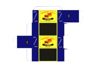 "Pattern for printing boxes - Matchbox ""Accessory Packs"" A-3 Шаблон для печати коробочек"
