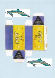 "Pattern for printing boxes - Matchbox ""Accessory Packs"" A-1 Шаблон для печати коробочек"