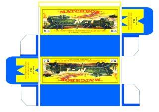 Pattern for printing boxes - Matchbox Major Packs-M3 Шаблон для печати коробочек