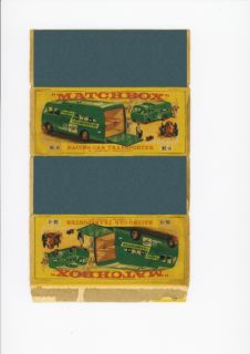 Pattern for printing boxes - Matchbox Major Packs-M6 Шаблон для печати коробочек